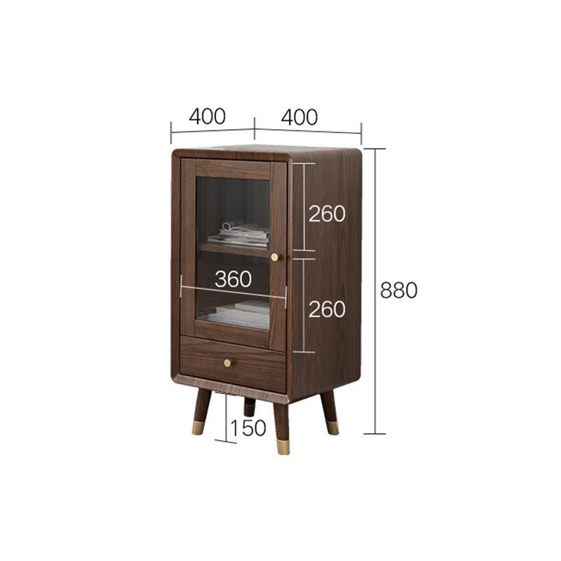House decorate modern design popular special offer high-end novel fashionable useful copper feet solid wood low wine cabinet