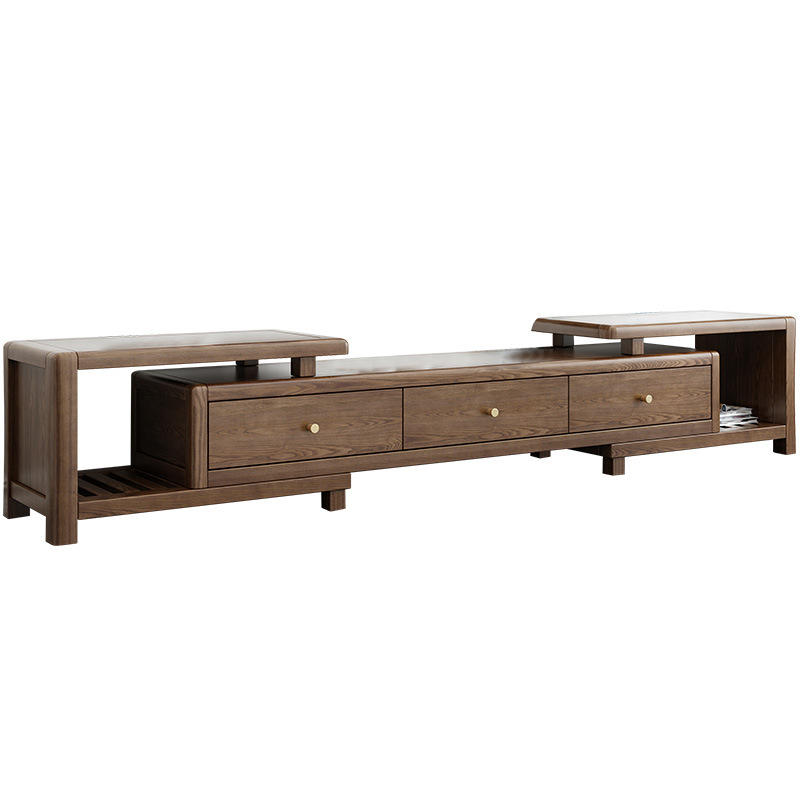 2020 latest extendable tv cabinet with drawers living room display cabinet with led tv stand unit wood tv console