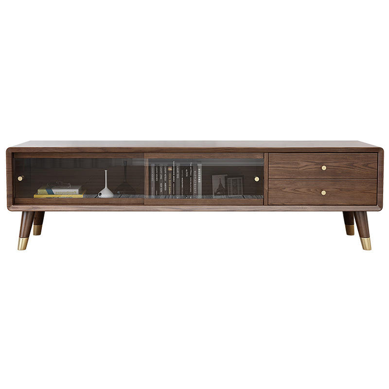 Entertainment center tv cabinet wood custom supported tv unit set modern wooden wall cabinet for led tv home furniture