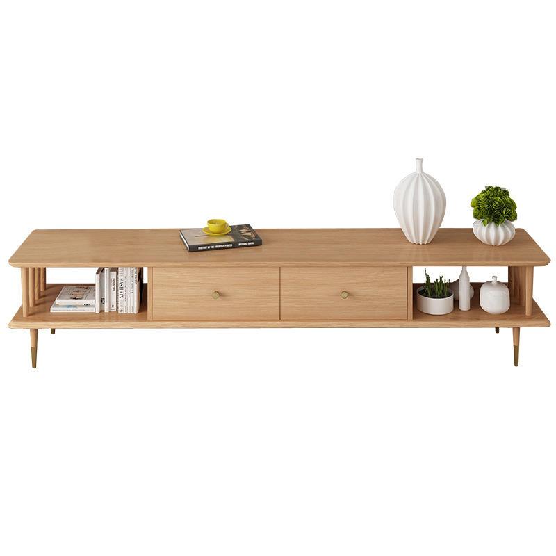 Modern living room furniture wall tv cabinet solid wood natural solid wooden tv table furniture design