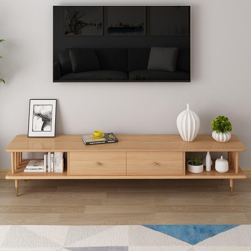2020 China supplier tv stands wood furniture living room simple white color high end new model hall display latest designs