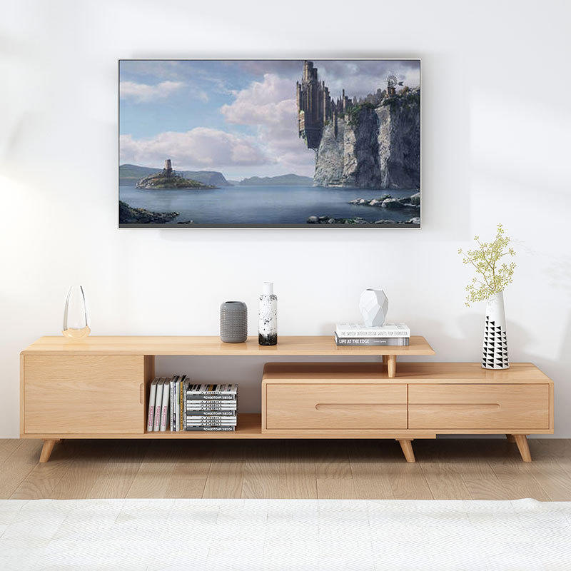 extendable tv stands wood furniture living room display cabinet long for sale simple oak luxury tv table with storage modern