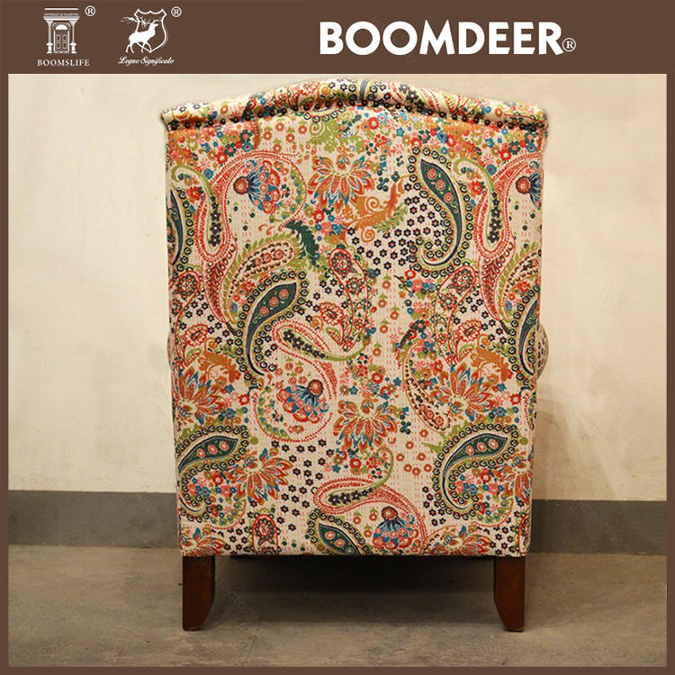 Boomdeer American Style Classic Arm Chairs Upholstered Country style Sofa Chair for living room