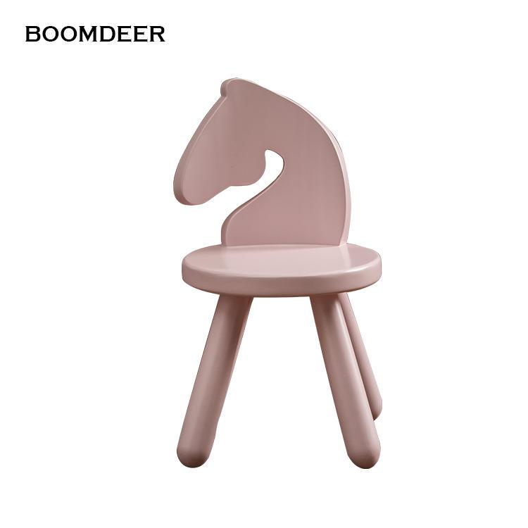 Modern Design Safe solid wood kids baby child Children Leisure Chair step stool Living Room decor horse shape creative animal
