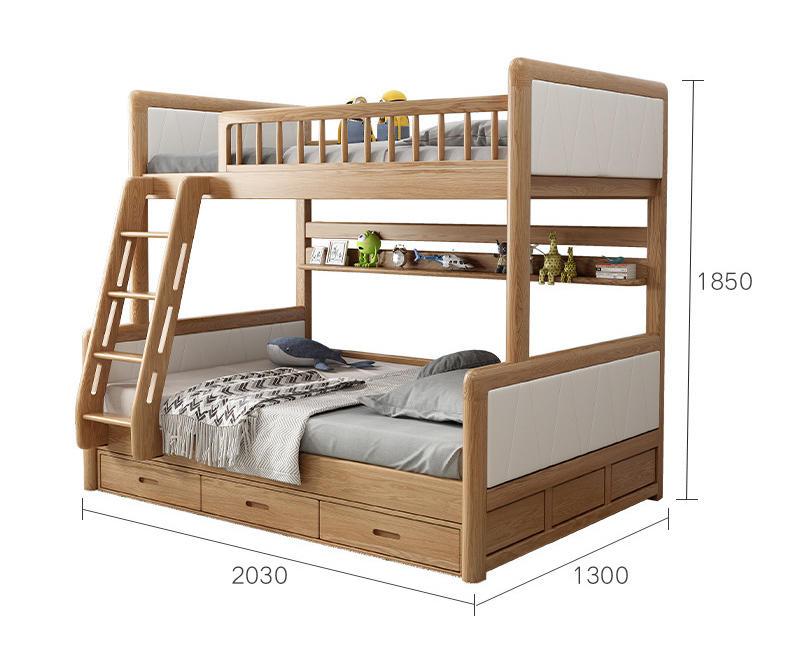 kids room furniture new design solid wooden Stable oak bunk bed