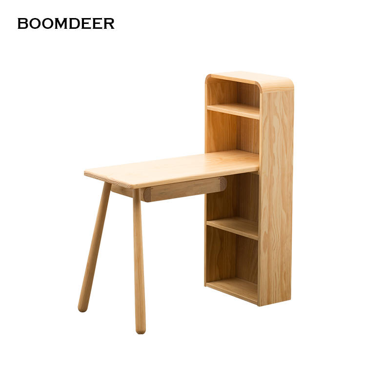 Hot saleWooden kids furniture Stablesolid wood table desk with storage
