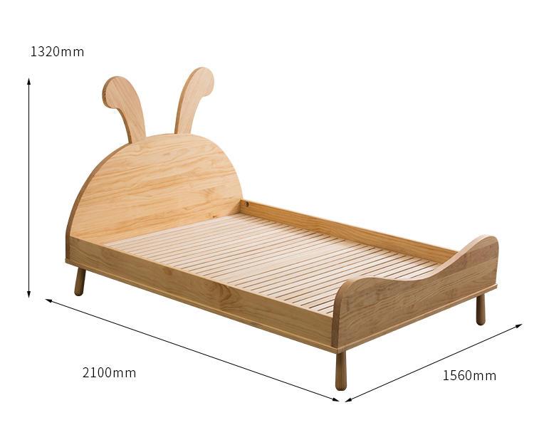ModernNature Wooden Children Furniture Cot Beds For Bedroom Set