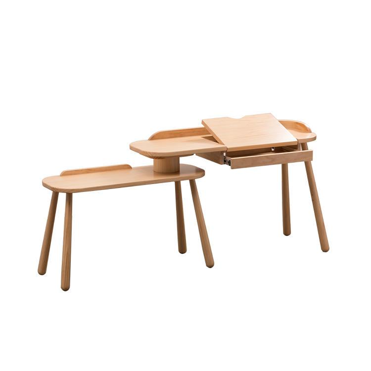 Flexible Diningroom Multifunction Kids Furniture Adjust wooden Table