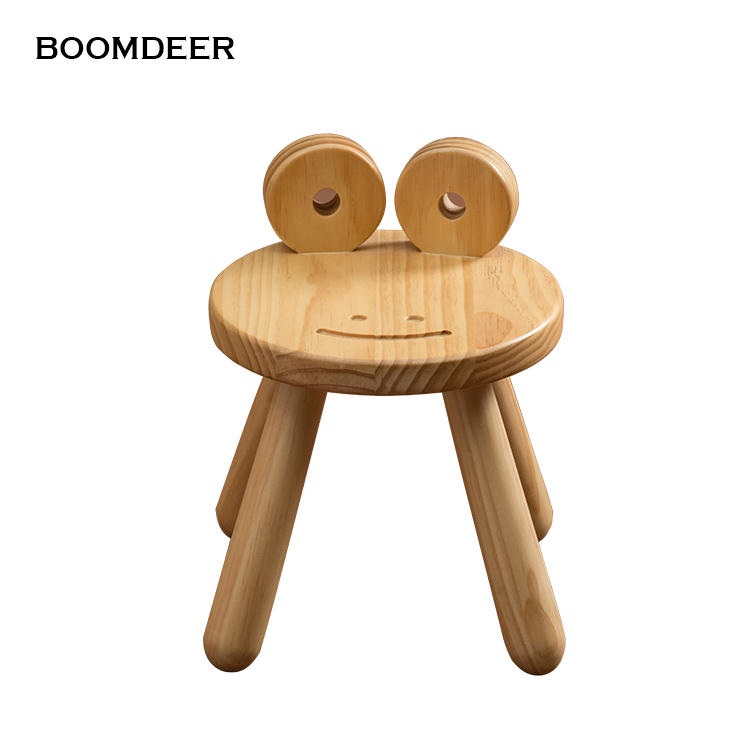 Home goods kids natural wood children furniture baby wooden cartoon animal dining study chair