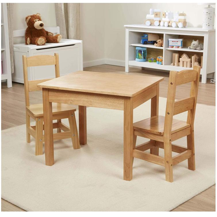 Boomdeer wooden children table for child, high quality wooden baby table for baby,hot sale wooden kids table