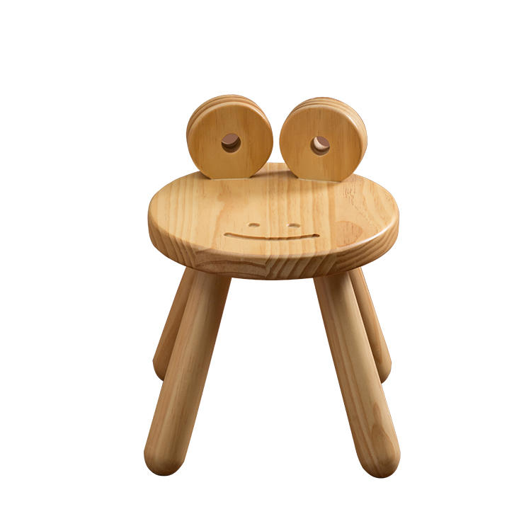 Living Room Furniture Sets Solid Wooden Animal Stools Cartoon Baby Chair And Footrest For Children