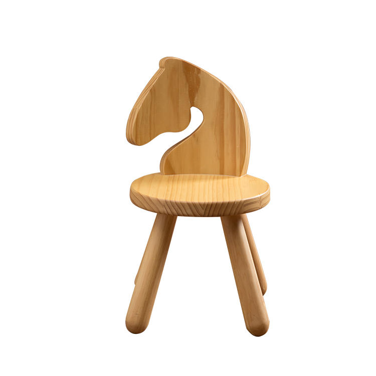 Hot selling animal simple chair wood baby seat kid stool chair baby chair