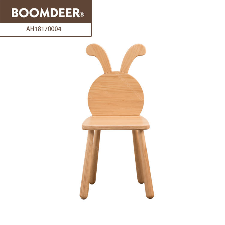 Living Room Wood Foldable High Chair Baby Feeding Animal Stools Baby Chair