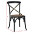 Back Cross Restaurant Wooden Room French Design Upholstered Furniture Antique Cheap Wholesale High Dining Chair Wood