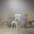 Dining Restaurant Wooden Room Wood French Design Upholstered Furniture Antique Cheap Wholesale High Back Chair Cross