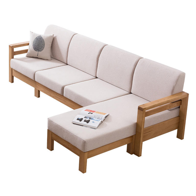 China stylish high quality elegant fabric soild wood sofa sets sectionals living room furniture with Imperial concubine's couch