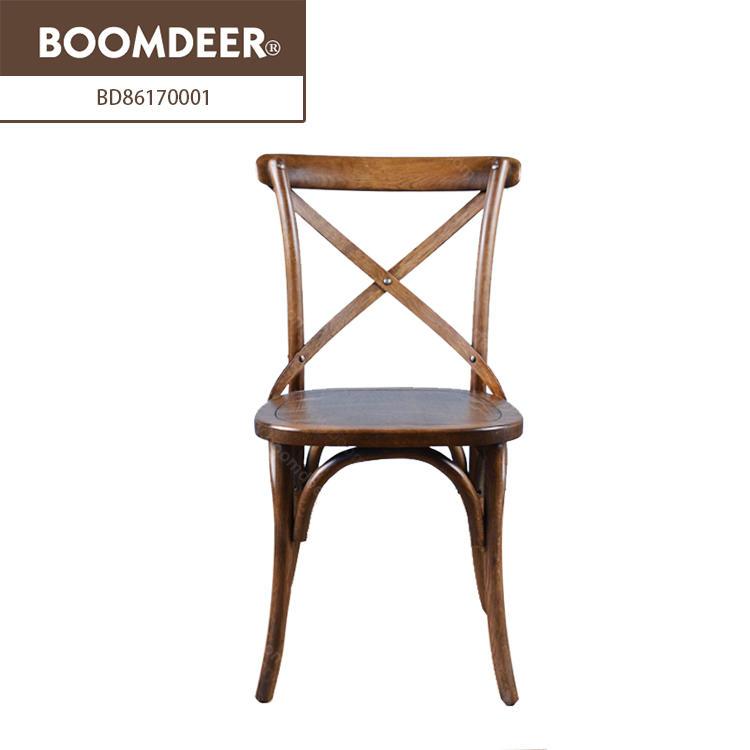 high back classic furniture chair cross back wood chair