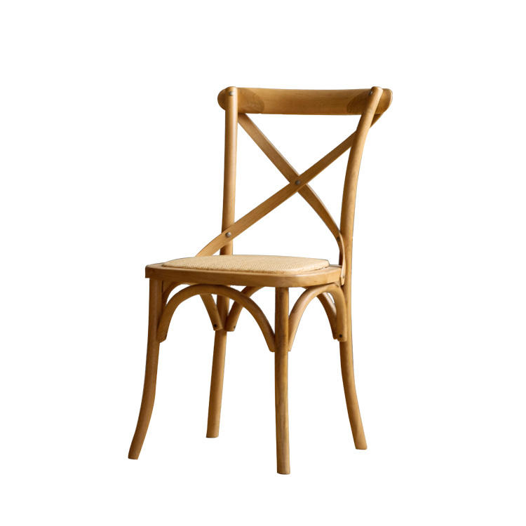Back Cross Solid Wood Dining Chair