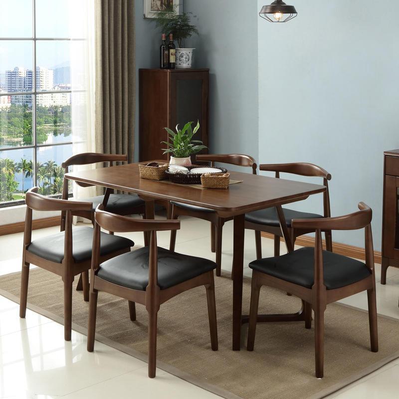 2020 latest design customise economic simple design home furniture luxury soild wooden V-leg dining table