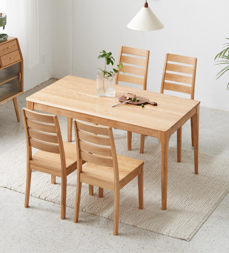 2020 Chinese furniture factory High Quality Modern Design Home Kitchen soild Wooden Dining Room Table