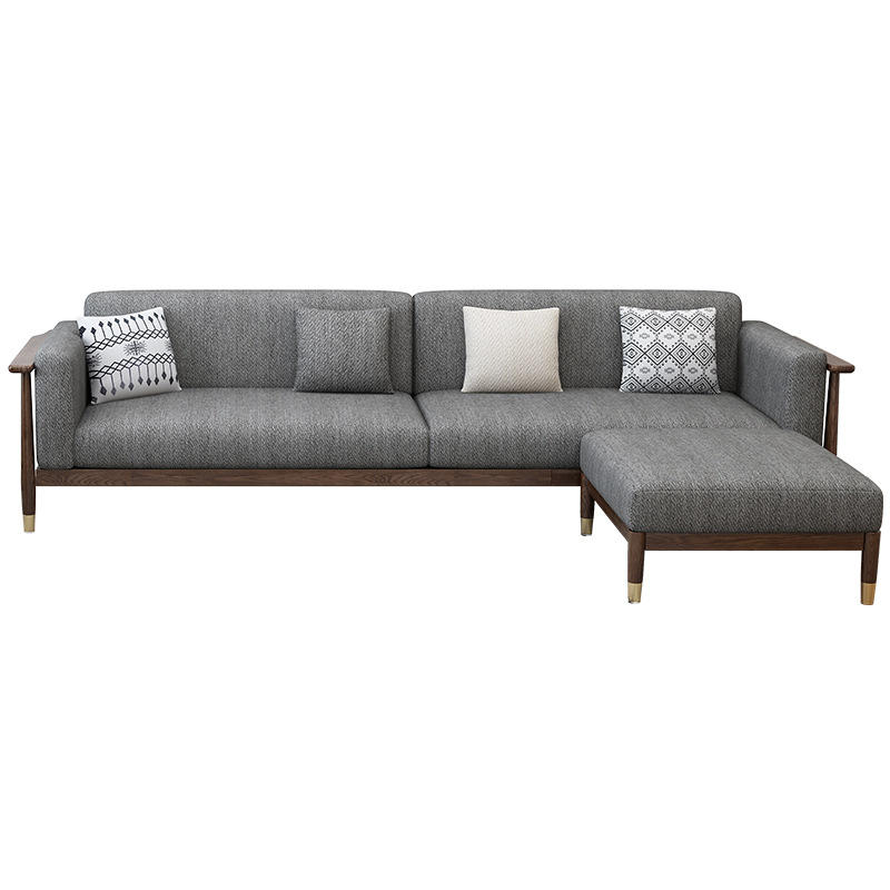 home furniture living room sofa walnut color home sofa with copper foot modernwoodsimple sofa sectional