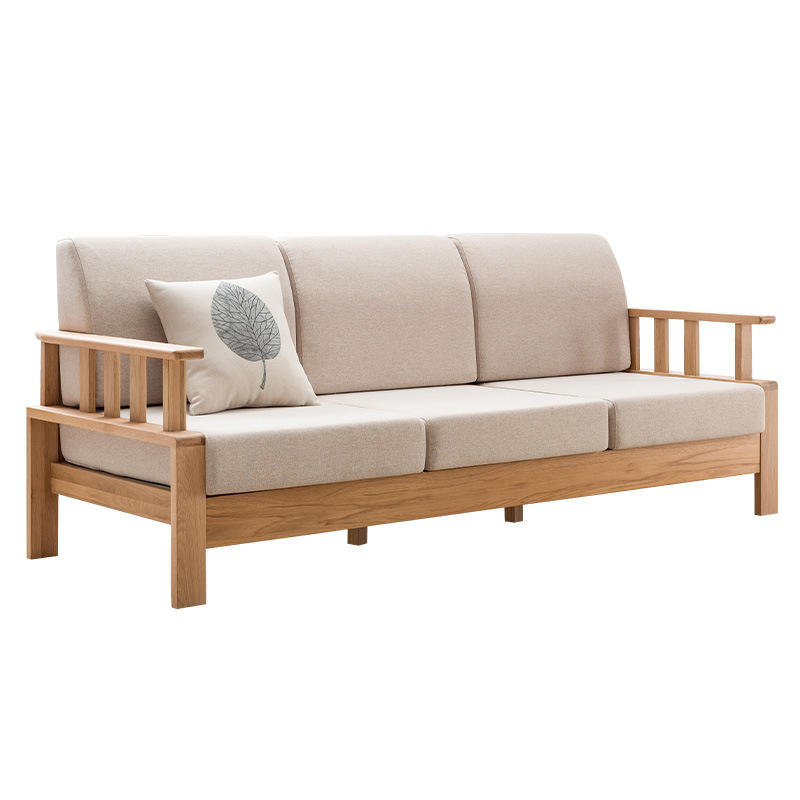 living room sofas solid wood l shaped wooden sofa modernwood frame fabric simple sofasectional corner sofa bed