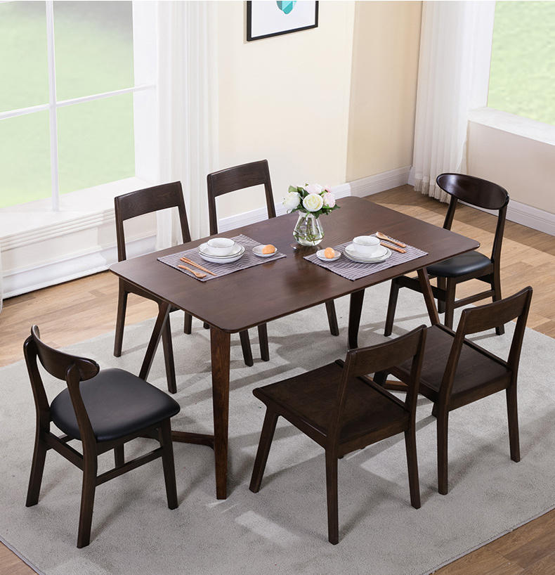 Luxury wooden dining tablehome furniture color optional solid wooden dinner table for dining room