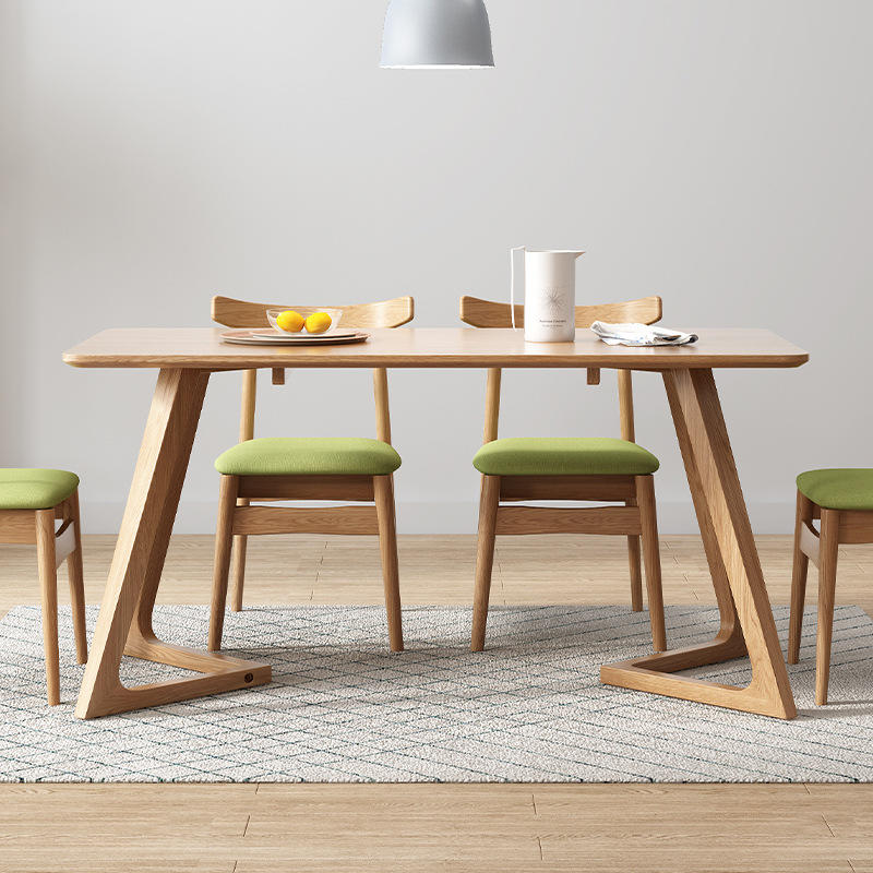 2020 new design dining table set solid wood dining table wooden furniture for dining room or restaurant