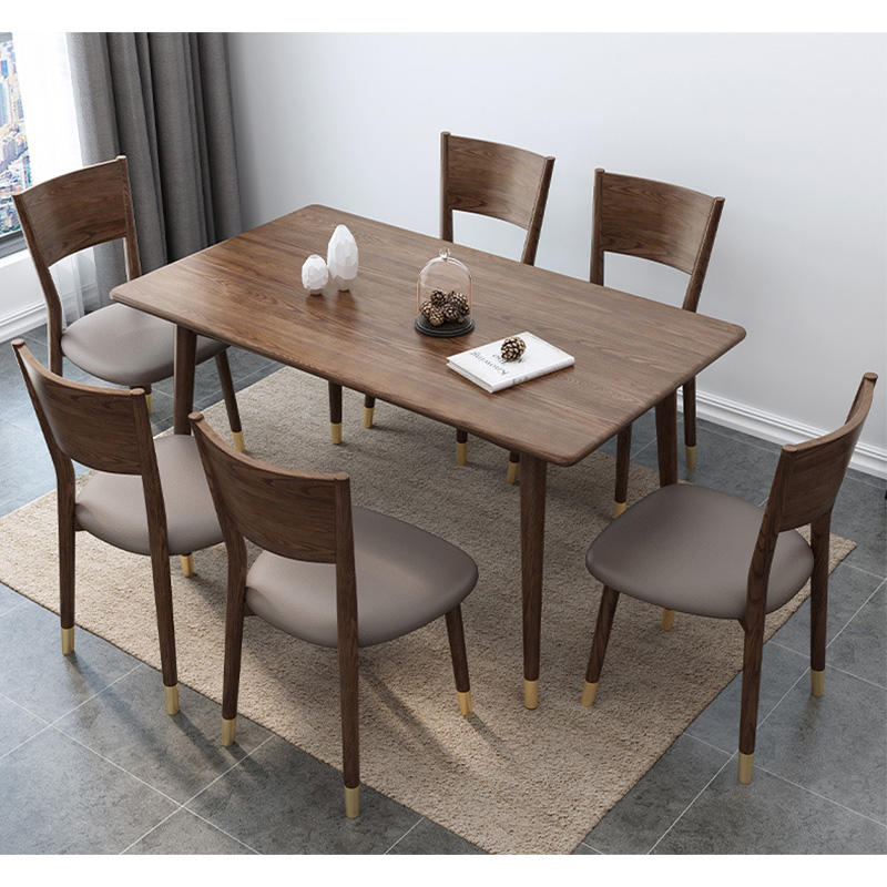 solid wood dining tables 4 seater set modern luxury design save space hot sales restaurant home furtniture
