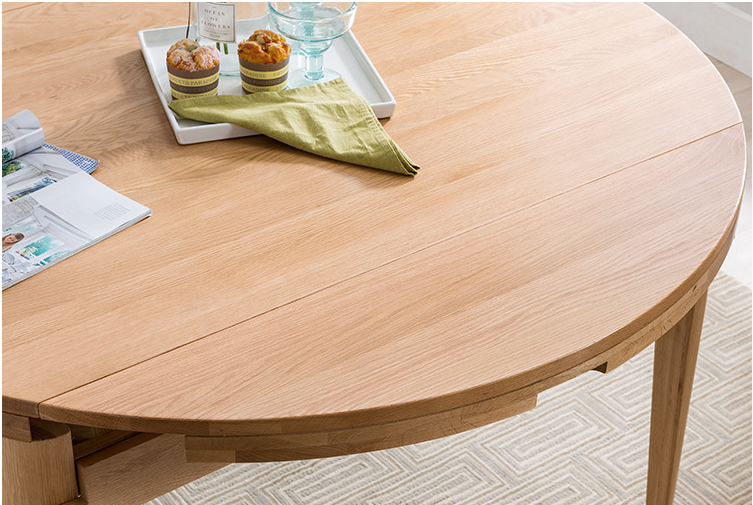 Round wood dining tablesolid wood modern home furniture simple dining table designs in wood scalable