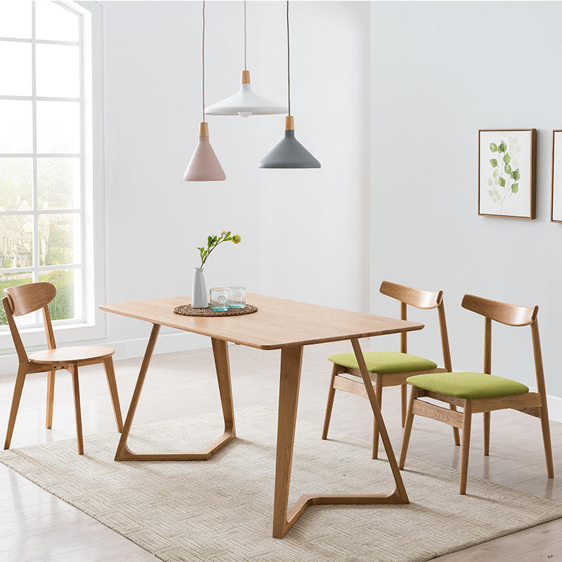 China OEM Multifunctional Small Apartment Nordic style customizable High-quality modern soild wood dining table