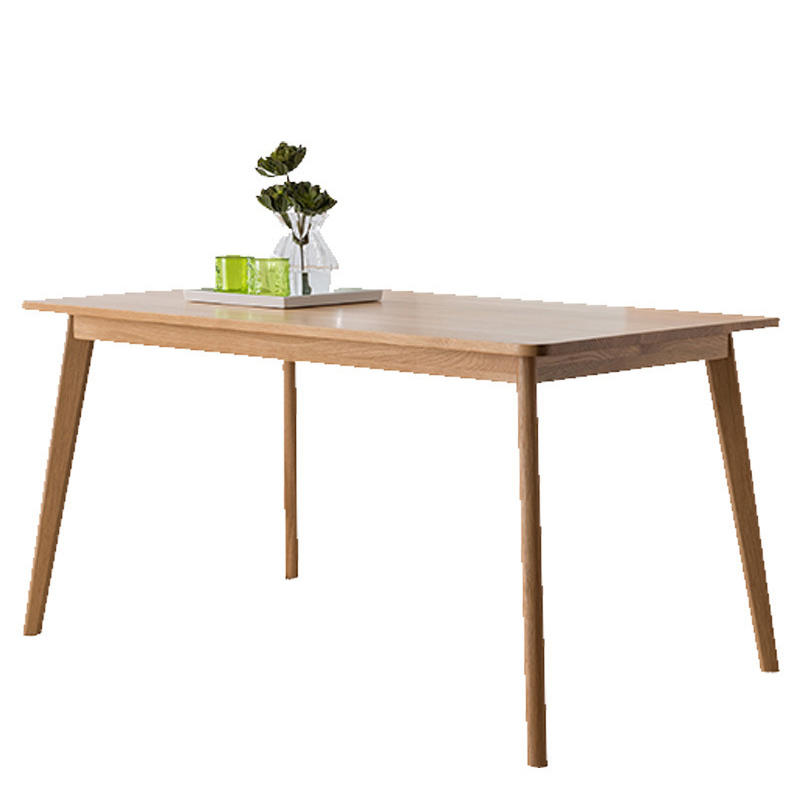 2020 new design fashionable Luxurious modern style natural wood color white oak direct deal soild wood dining table
