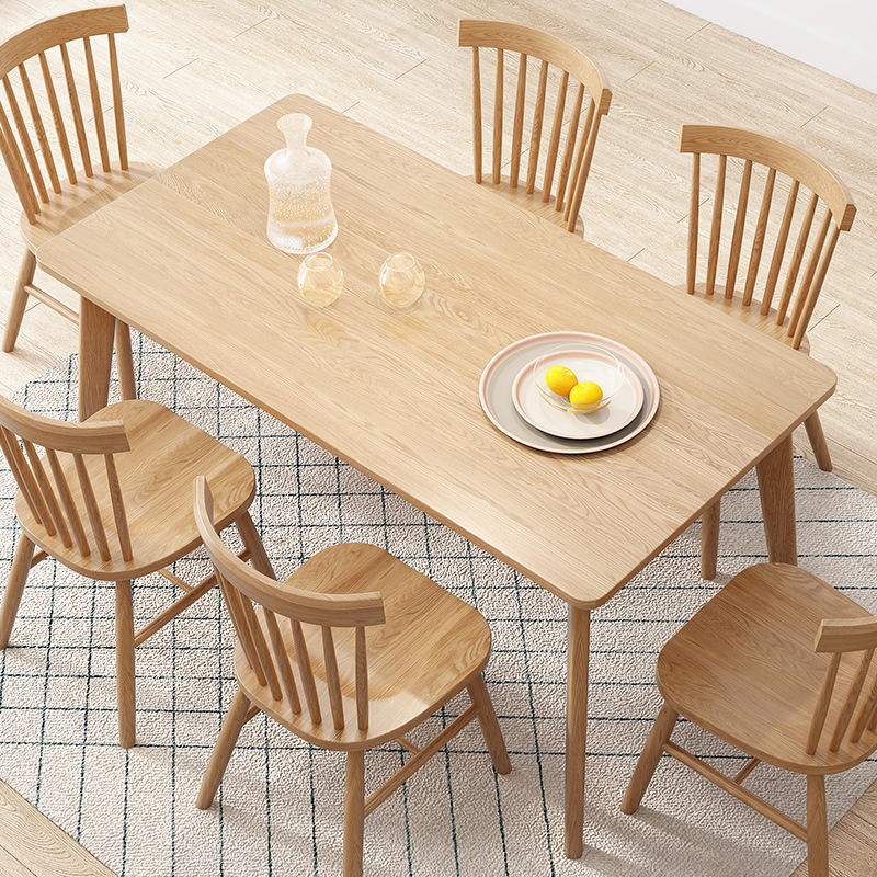 Solid Chairs Round Slab Set Natural Top Suar Hard Extending Dining Table Oak Wood