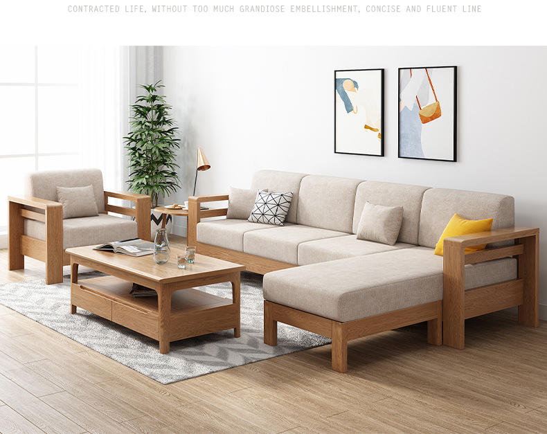 wooden single seat sofa wood designs solid wood living room fabric sectional bed modern wooden sofa