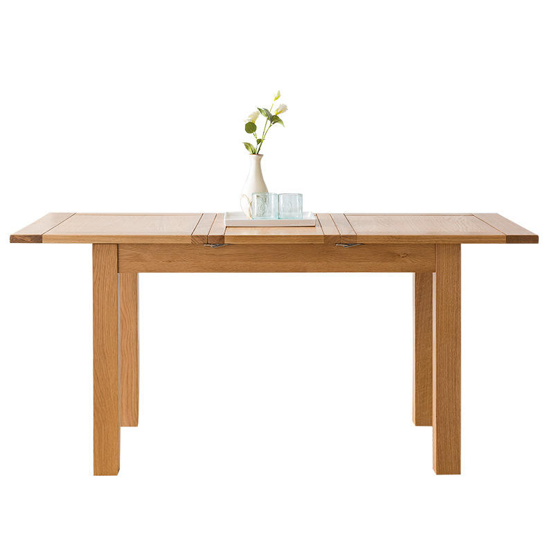 Square shape Modern style solid wood dining table wooden furniture homeset
