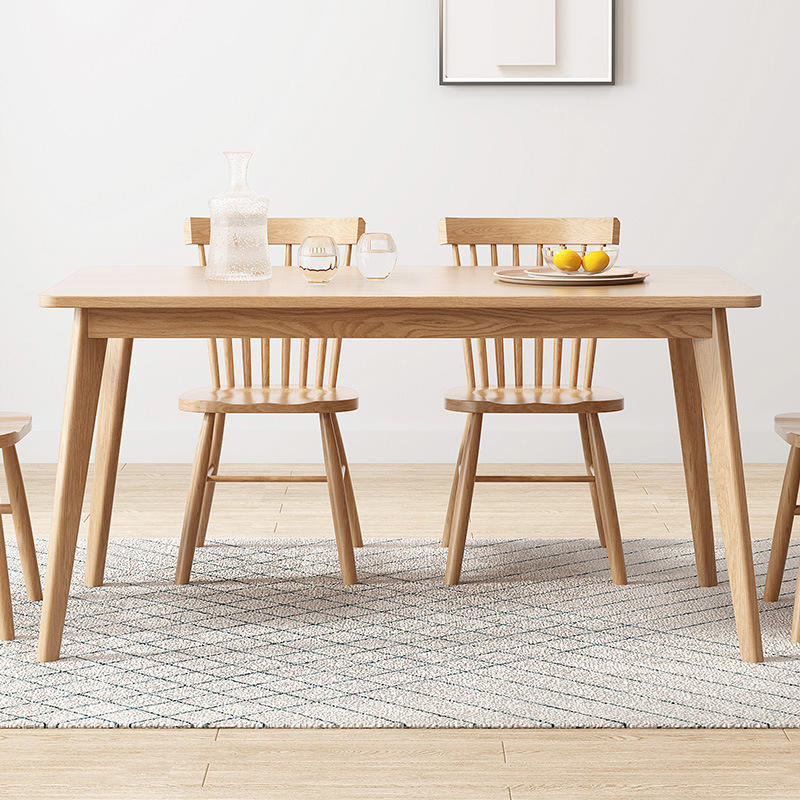 High quality Modern style solid wood dining table wooden furniture homeset