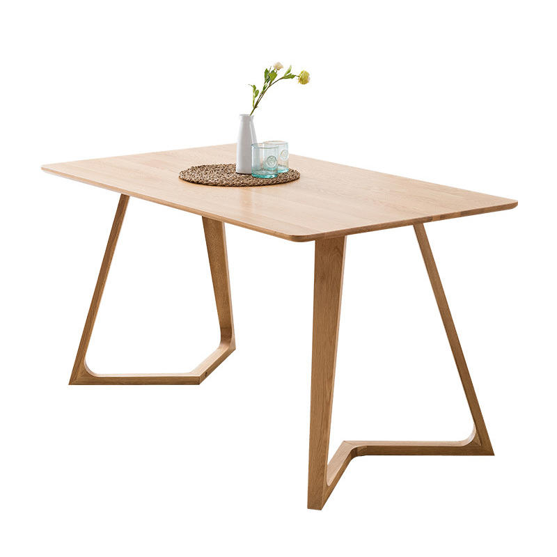 Luxury European style solid wood dining table wooden furniture homeset
