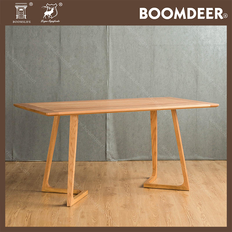 Hot Selling Simple Modern Designs High Quality Solid Wood Dining Table