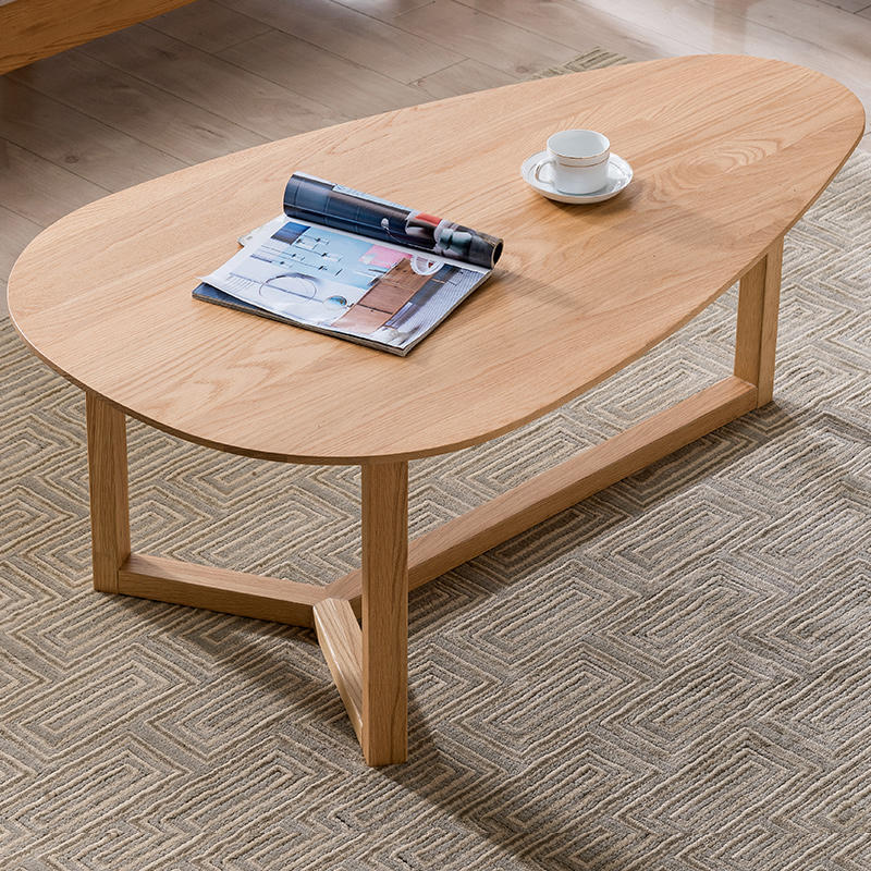 2020 new design Manufacture price widely used room furniture particle Water drop soild wooden tea table