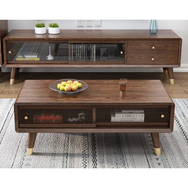 2020 High Quality Nordic affordable luxury top sales home furniture soild wooden small coffee table