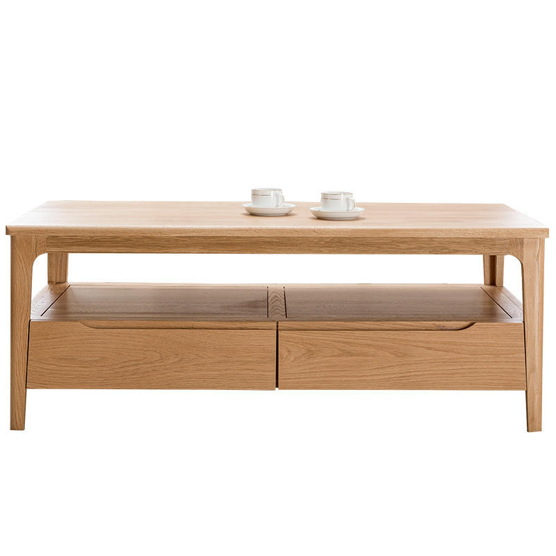 China wooden coffee table living room furniture simple design solid wood coffee table dining table combination wholesale