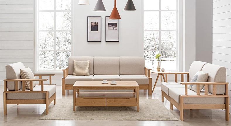 Wholesale modern furniture latest new designs soild wooden oak tea table living room furniture modern fashion
