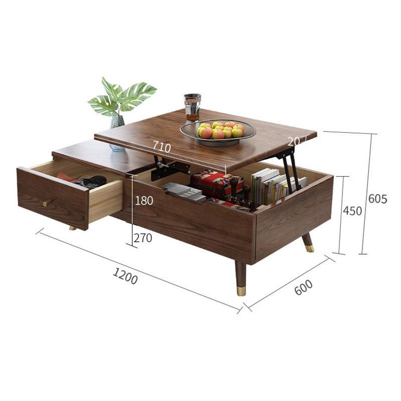 solid wooden coffee table luxury concrete custom walnut sobro interactive home furniture