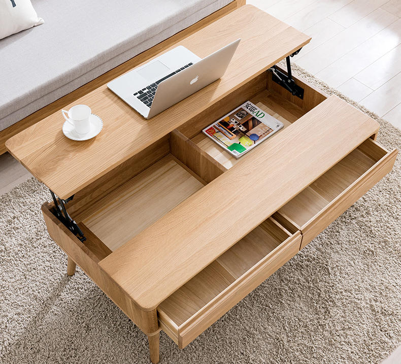 low price used unique living room Economic multifunctional soild wooden Foldable tea table for the living room