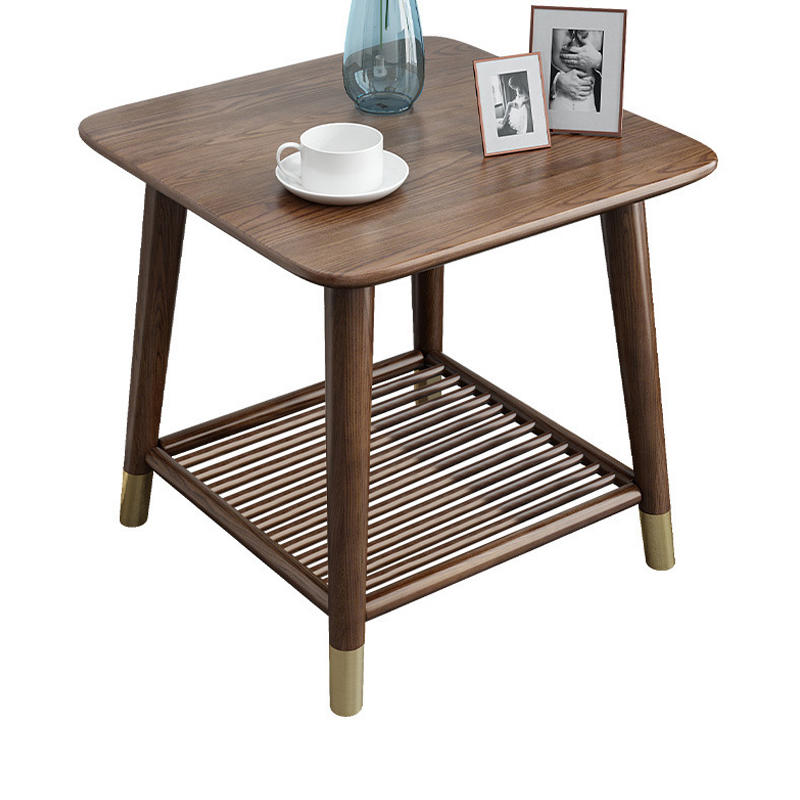 home furniture real wood square tea table wooden corner table modern wood small coffee table for living room