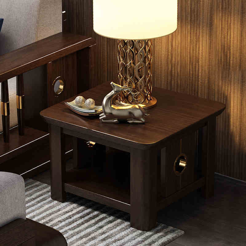 Original factory new list design top sale high quality novel modern stylish natural solid wood square table for living room