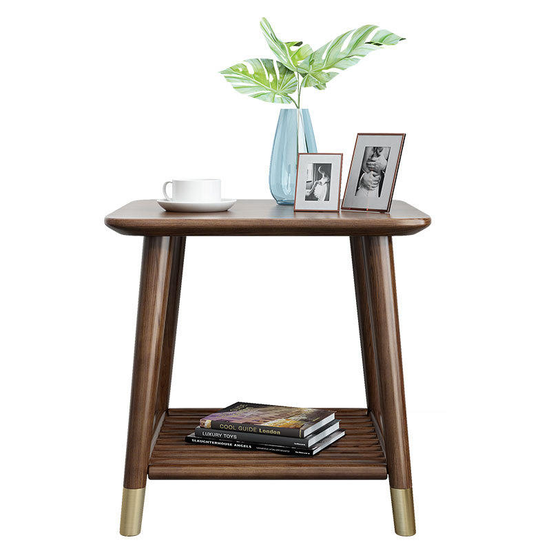 Morden custom supported simple design small lounge wooden corner cafe coffee table for living room furniture