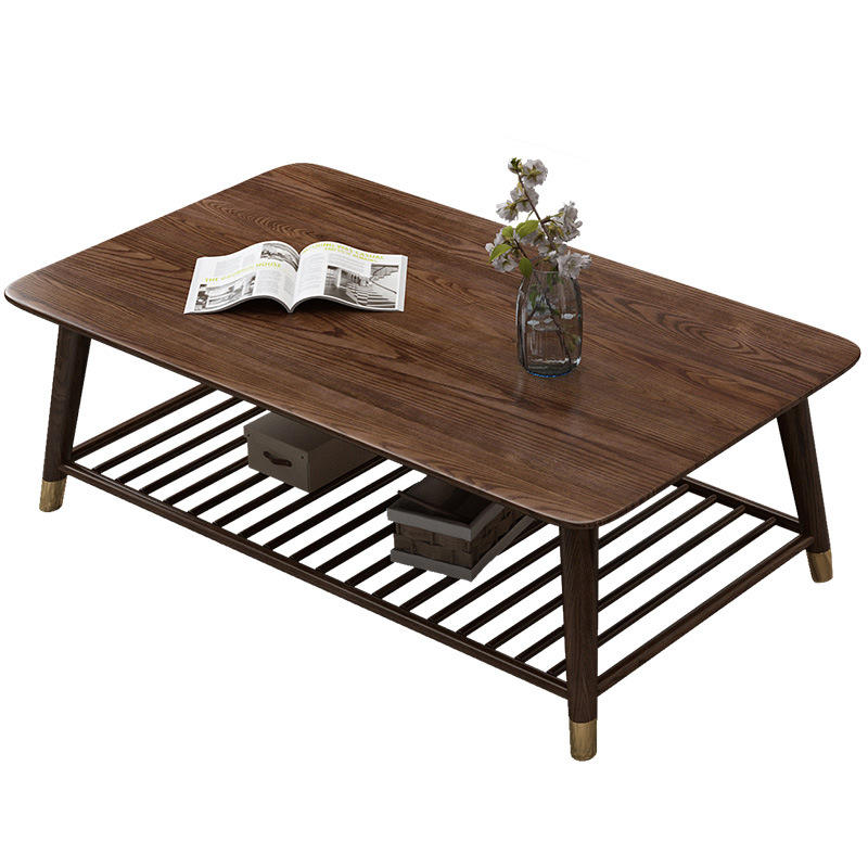 2020 high quality simple modern hot sale direct deal living room soild wood coffee table tea table worth more in walnut color