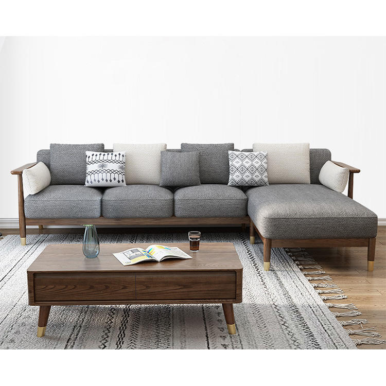 livingroom latest designs 2 colors available customizable lounge high quality combined storage useful solid wooden sofa set