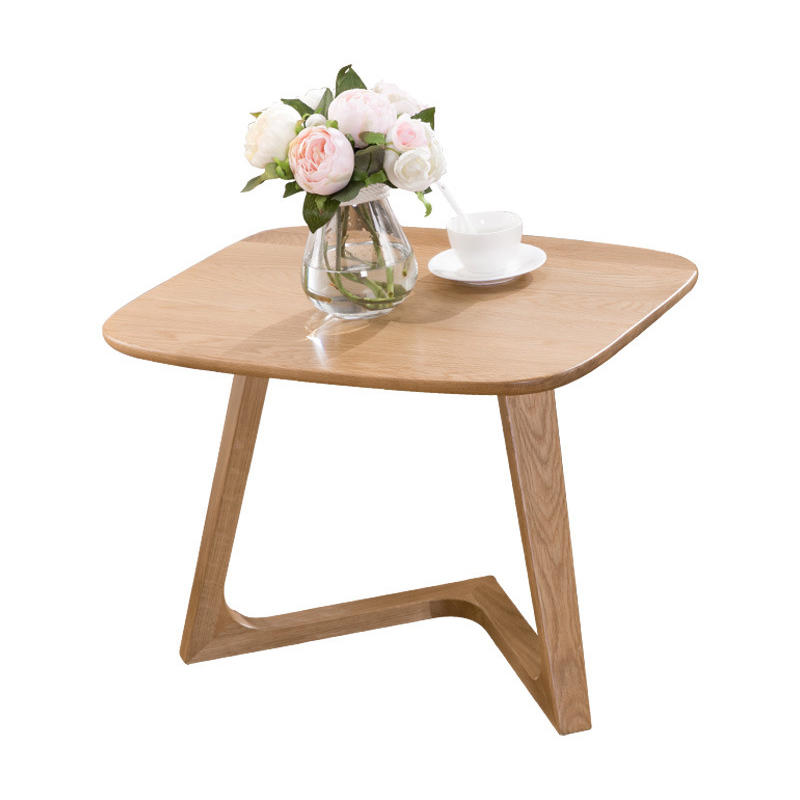 Hot sale low price morden custom fashion design small solid wooden corner tea table coffee table furniture